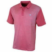 Island Green CoolPass Golf Polo Shirt Berry Pink Blue Stripe M,L,XL,XXL IGTS1645