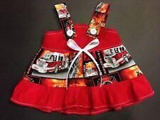 FDNY Firefighter Fireman 9/11 Baby Infant Toddler Girls Dress*YOU PICK SIZE