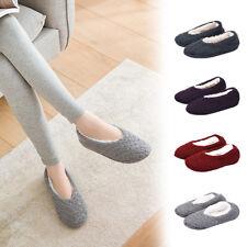 Women Soft Low Cut Warm Cotton Socks Non Slip Ankle Knitted Slipper Socks +Grips