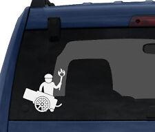 Medieval Stickman #5 - Cannon Gunner Torch Man  -Car Tablet Vinyl Decal
