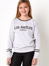 New Girls Light Grey Sweatshirt Jumper Various Ages 8 - 14 Free Postage
