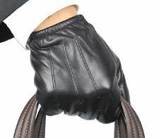 New 100% Echtes Leder Black Police Handschuhe / Police Gloves