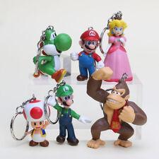 Super Mario Bros Nintendo Figurine Porte Clé Clef PVC Figure Keyring Keychain