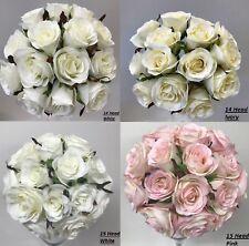 SILK WEDDING BOUQUET ROSE PRE MADE POSY WEDDINGS FLOWER ROSES ARTIFICIAL FLOWERS