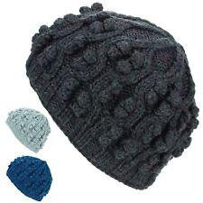 Cappello morbido rivestimento acrilico lavorato a maglia Beanie Blu Grigio  Caldo Inverno Vegan NUOVO 79b4d1aced8f