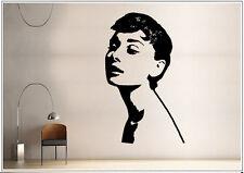 Wandtattoo wandaufkleber wandsticker photo  Porträt  Audrey Hepburn wph011