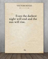 Poster- V. Hugo-Les Misérables- Darkest Night - Choose Unframed Poster or Canvas