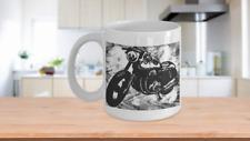 Motorcycle Artwork Biker Rider 11oz Coffee Cup Motocross Fan
