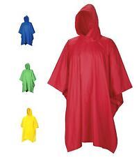 WATERPROOF PONCHO bright camping festival kagools walking wet weather rain mac
