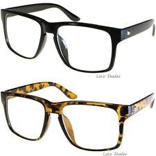 Retro Frame Clear Lens Glasses Squared Aviator Nerd Hipster Fashion Eyewear