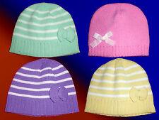 Bonnet pour enfants Petit fille/ado tricoté avec ruban couleurs au choix