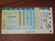 INTER BARI BIGLIETTO TICKET 1994/95 SERIE A