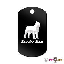 Bouvier Mom Engraved Keychain Gi Tag dog des Flandres Many Colors