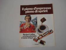 advertising Pubblicità 1973 FERRERO POCKET COFFEE