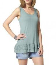 Aniston Femmes haut long haut dentelle débardeur sans manches turquoise 563643