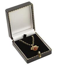 3 x Luxury Antique Style Leatherette Pendant/Drop Earring Boxes - Colour Choice