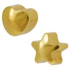 STUDEX Ear Piercing Mini Oro placcato forma Plain Orecchini 2mm cuore / stella