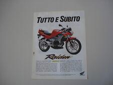 advertising Pubblicità 1992 HONDA NSR 125 F RAIDEN