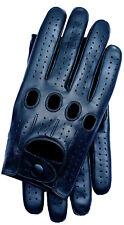 Riparo Genuine Leather Full-finger Driving Gloves - Black