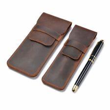 Handmade Leather Pen Bag Pencil Bag Vintage Retro Style