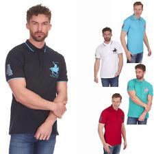 Da Uomo Designer Polo Cavallo Camicia Manica Corta Piqué Punta T-shirt Girocollo T-Shirt S-XXL