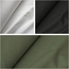 Dyed 100% Linen Look Slub Cotton Fabric - Various Colours (Per Metre)