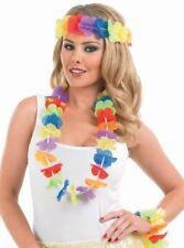 Hawaiian Lei Headband Floral Hairband Luau Party Accessories Red Purple Pink Yel