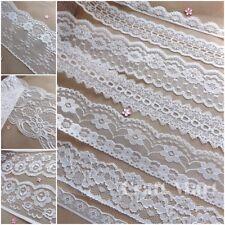 VINTAGE antique off White/Ivory LACE RIBBON WEDDING TRIM Bridal Shabby dress New