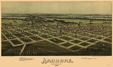 Panoramic Print - Ardmore Oklahoma - Fowler 1891 - 23 x 38.60