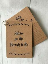 x10 baby shower advice cards game, a6 kraft card, unisex