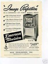Emerson TV Television Max Finklestein Inc Original Ad
