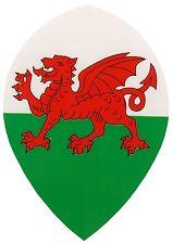 Wales Pear Shaped Dart Flights - 5 or 10 Sets - Welsh Pear Flights