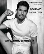 T-shirt uomo Enrico Coveri girocollo basso in cotone Calibrata art ET1100 EXT