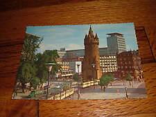 Frankfurt Am Main Blick Auf Den Eschenheimer Turm old Germany Vintage Postcard