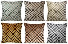 Chenille Samt Criss Cross Design 17 x 17 Kissenbezüge für Sofa Bett