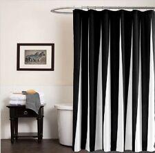Elegant Modern Monochrome Black White Waterproof Bath Hook Shower Curtains DIY