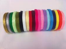 Sheer Organza Ribbon - 50 yards - many colours - 6mm & 10mm
