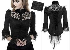 Chemise gothique lolita burlesque victorienne tournure dentelle corset Punkrave