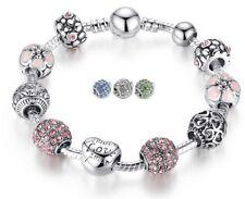 💎925 Silber Bettelarmband Charmarmband 10 Charms Bead Schmuck Pandora Art💎