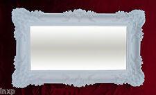 XXL Espejo de Pared Blanco 96x57 Antigua Barroco Shabby Chic Pasillo Maquillaje