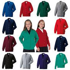 Cardigan Per Bambini School Uniform Ragazzi Ragazze 10 Colori Età 3 - 12 anni senza PnP