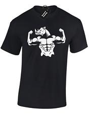 Rhino de levage pour Homme T Shirt Gym Haut D'Entraînement Bodybuilding MMA Crossfit Poids