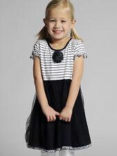 Pom Pom Navy Jersey & Tulle Toddler/Girls SPRING Dress Sizes 2-3, 5-6 NWT $69