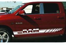 DODGE RAM 1500 - 2pcs side Stripes Racing graphics vinyl body decal sticker logo
