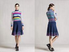 Ivko Rock Skirt Intarsia Pattern Merino Wolle marine blau - 72626