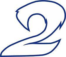 x1 5.1cm numero da gara vinile adesivo più nel negozio EBAY Stile 2 Numero 2