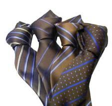 CRAVATTA marrone e azzurra cravatte a righe marroni azzurre be rigati vari Italy