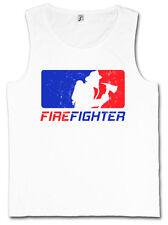 FIREFIGHTER TANK TOP Fire Brigade Axe Helmet Volunteer Department Dept Feuerwehr