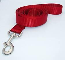 New 6 Ft Long Red Nylon Dog Pet Leash Lead