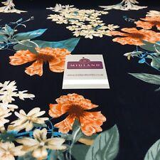 Floral Vintage Estampado Viscosa Vestido Tela 147cm Ancho MA1010 Mtex
